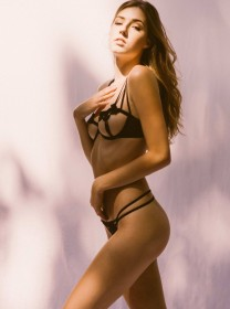 Briahna Gilbert in sexy lingerie