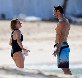 Hayden Panettiere at the beacy