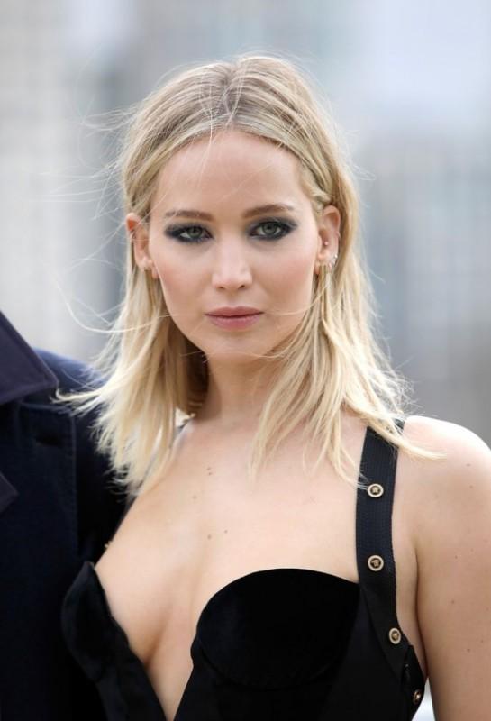 Hot Jennifer Lawrence Braless
