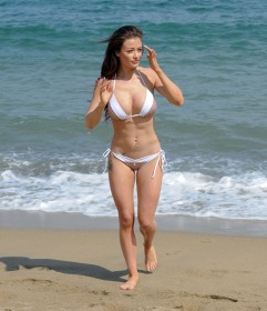 Jess Impiazzi bikini candids