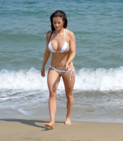 Jess Impiazzi in mini bikini
