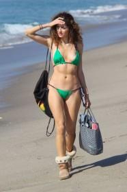 Sexy Blanca Blanco bikini candids