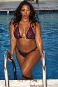 Tabria Majors in bikini see thru