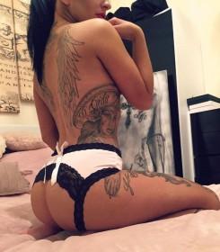 Tia Mendez Sexy Body Tatoo