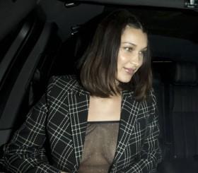 Bella Hadid no bra photo