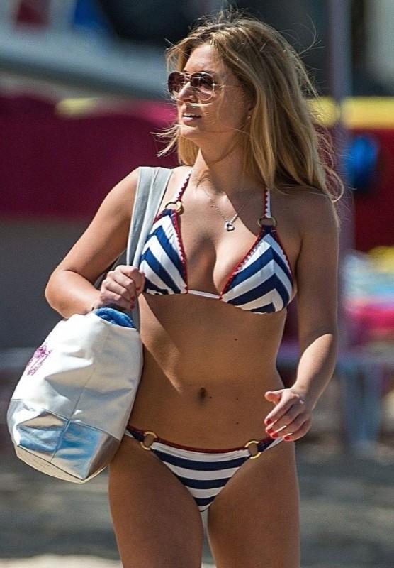 Zara Holland bikini candids