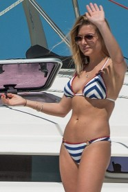 Zara Holland in bikini paparazzi photo