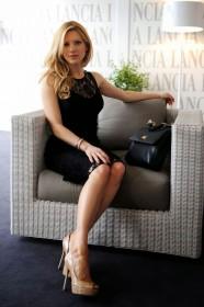 Katheryn Winnick in black dress
